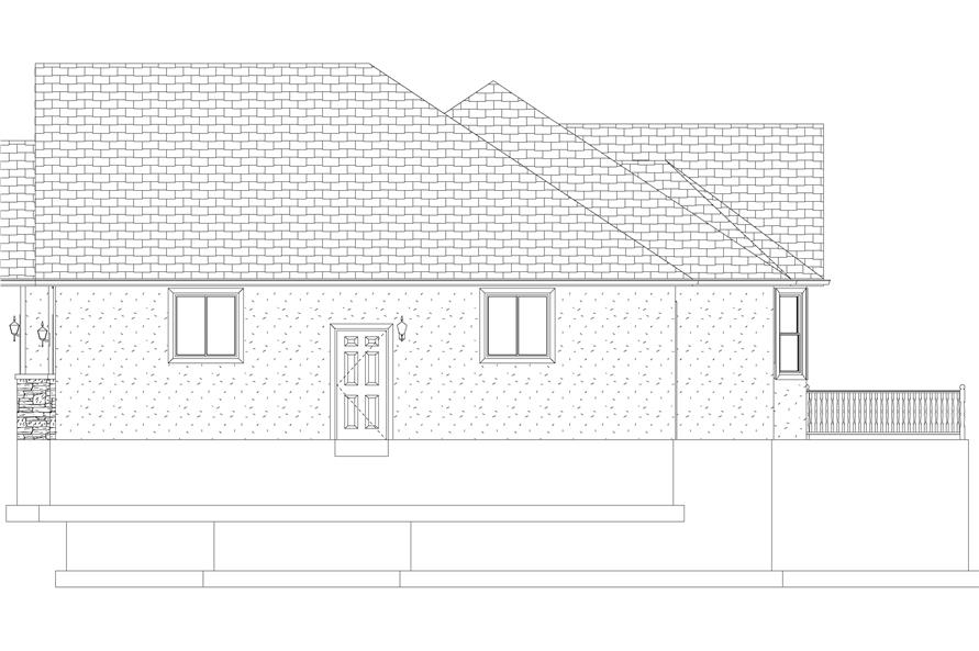 Home Plan Right Elevation of this 5-Bedroom,2254 Sq Ft Plan -187-1144
