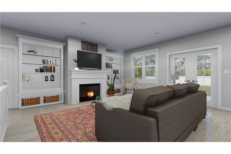 Family Room of this 5-Bedroom,2254 Sq Ft Plan -2254