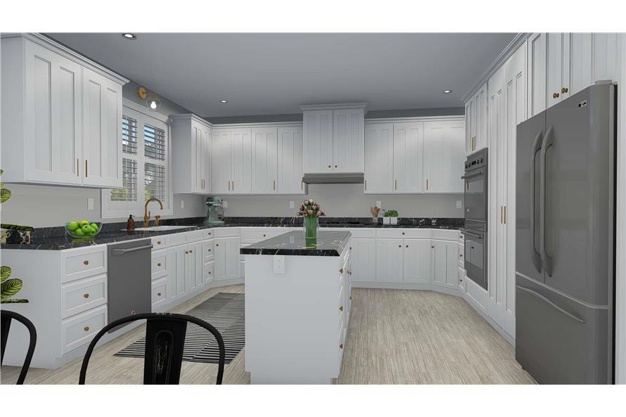 Home Plan Rendering of this 5-Bedroom,2254 Sq Ft Plan -2254