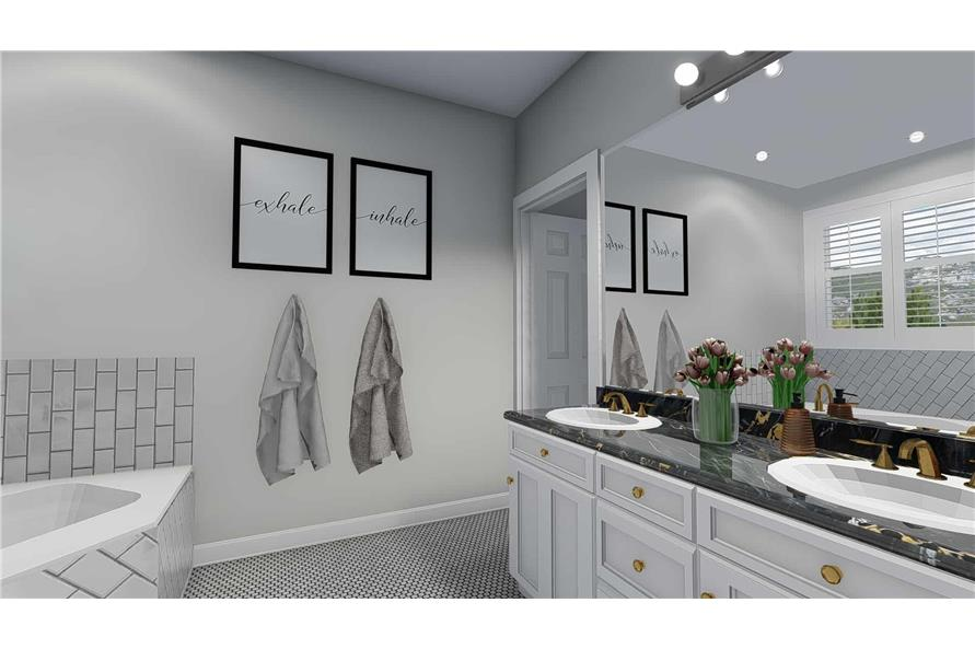 Master Bathroom of this 5-Bedroom,2254 Sq Ft Plan -2254
