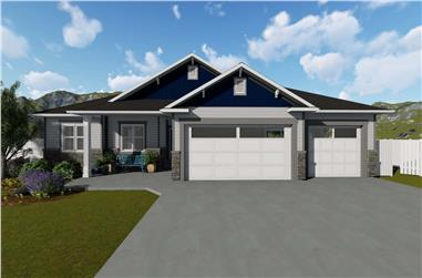 5-Bedroom, 1493 Sq Ft Craftsman House Plan - 187-1145 - Front Exterior