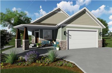 2-6-Bedroom, 1801 Sq Ft Craftsman Home Plan - 187-1147 - Main Exterior