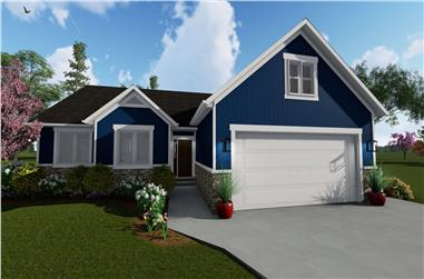 7-Bedroom, 1709 Sq Ft Country House Plan - 187-1148 - Front Exterior
