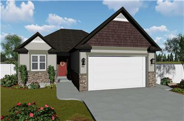 3-7 Bedroom Ranch House Plan - 187-1149 - Front Exterior