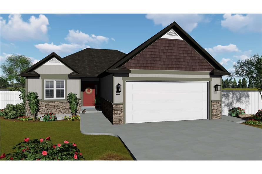 3 7 Bedroom Ranch House Plan 2 4 Baths With Finished Basement Option 187 1149