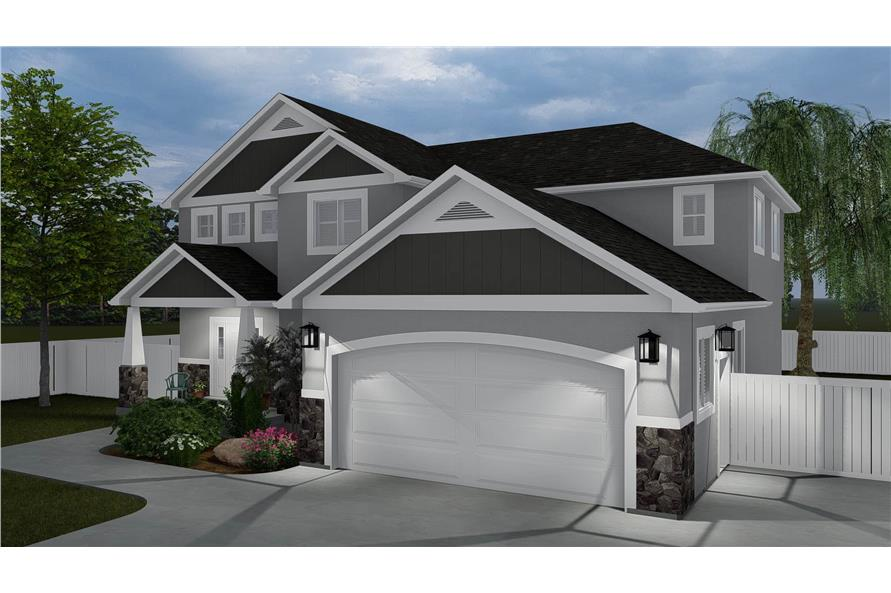 Front View of this 4-Bedroom,2473 Sq Ft Plan -2473