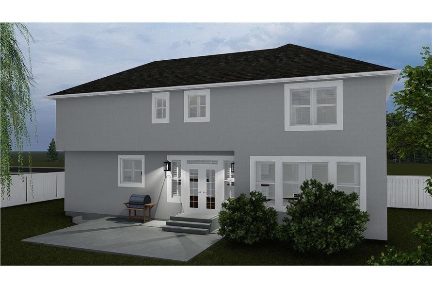 Rear View of this 4-Bedroom,2473 Sq Ft Plan -2473