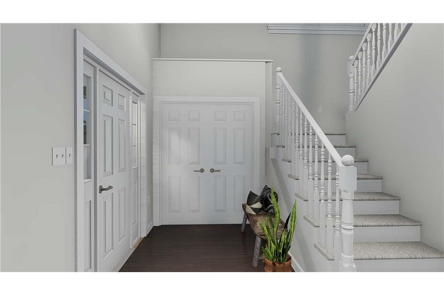 Entry Hall: Staircase of this 4-Bedroom,2473 Sq Ft Plan -2473