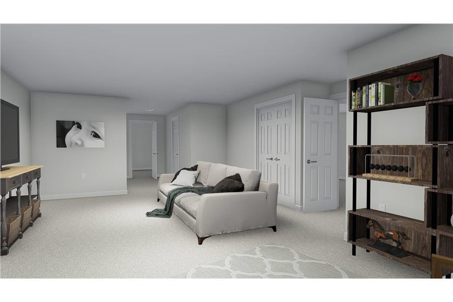 Home Plan Rendering of this 4-Bedroom,2473 Sq Ft Plan -2473