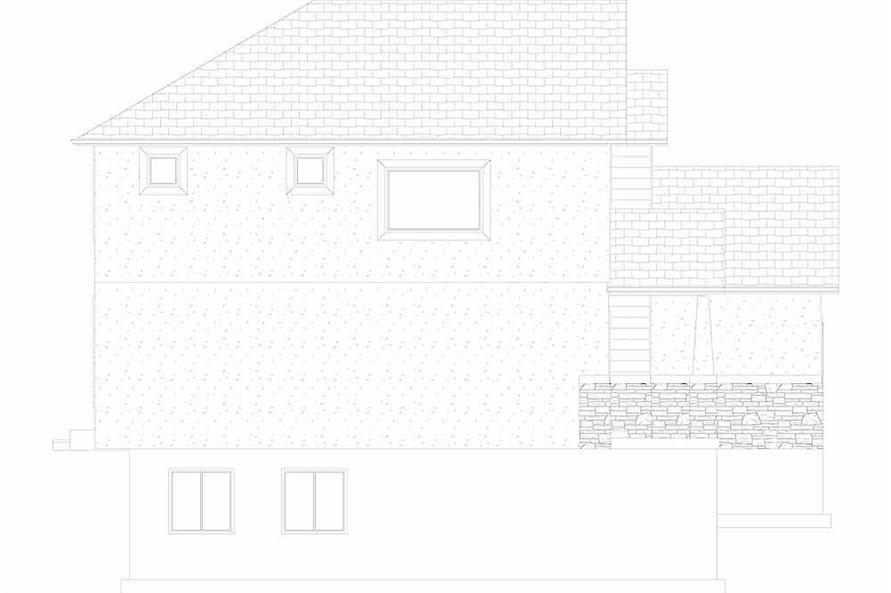 Home Plan Left Elevation of this 4-Bedroom,2473 Sq Ft Plan -187-1150