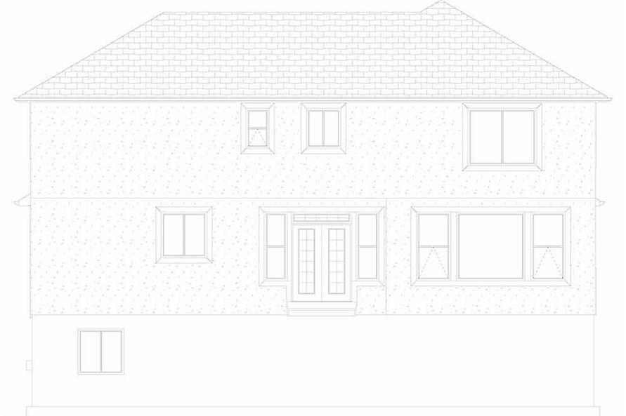 Home Plan Rear Elevation of this 4-Bedroom,2473 Sq Ft Plan -187-1150