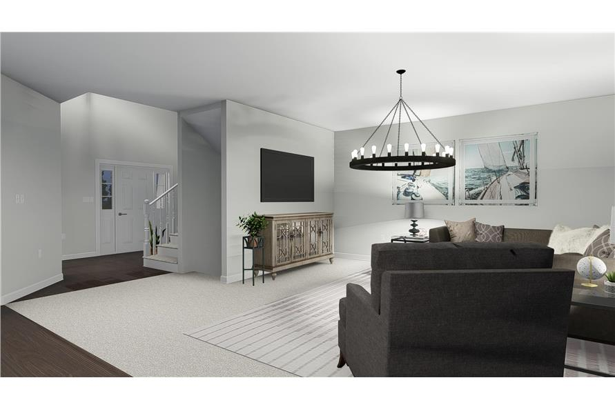 Family Room of this 4-Bedroom,2473 Sq Ft Plan -2473