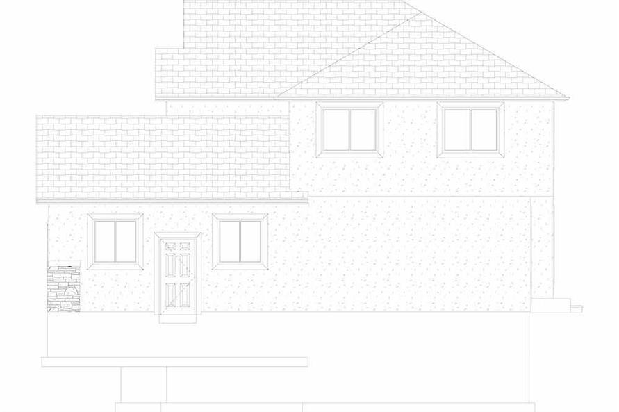 Home Plan Right Elevation of this 4-Bedroom,2473 Sq Ft Plan -187-1150