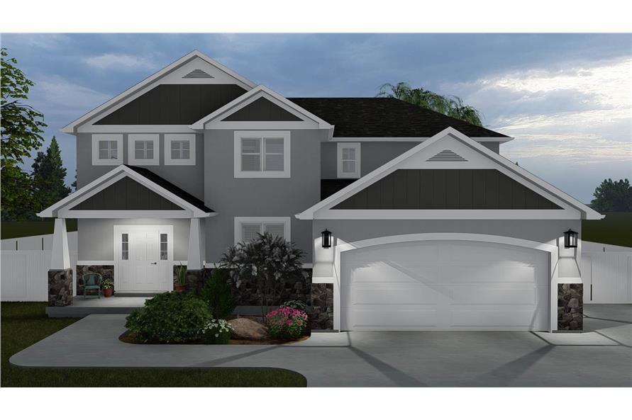 4-Bedroom, 2473 Sq Ft Contemporary Craftsman House - Plan #187-1150 - Front Exterior