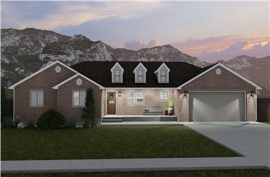 3-Bedroom, 1861 Sq Ft Ranch House - Plan #187-1151 - Front Exterior