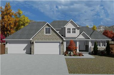 3-Bedroom, 2084 Sq Ft Transitional House - Plan #187-1152 - Front Exterior