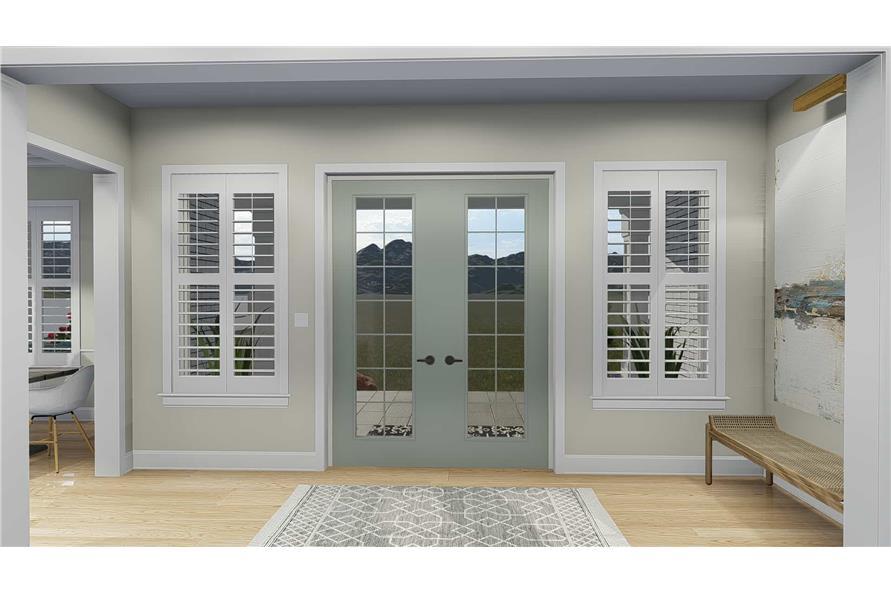 Front Door of this 5-Bedroom,4658 Sq Ft Plan -4658