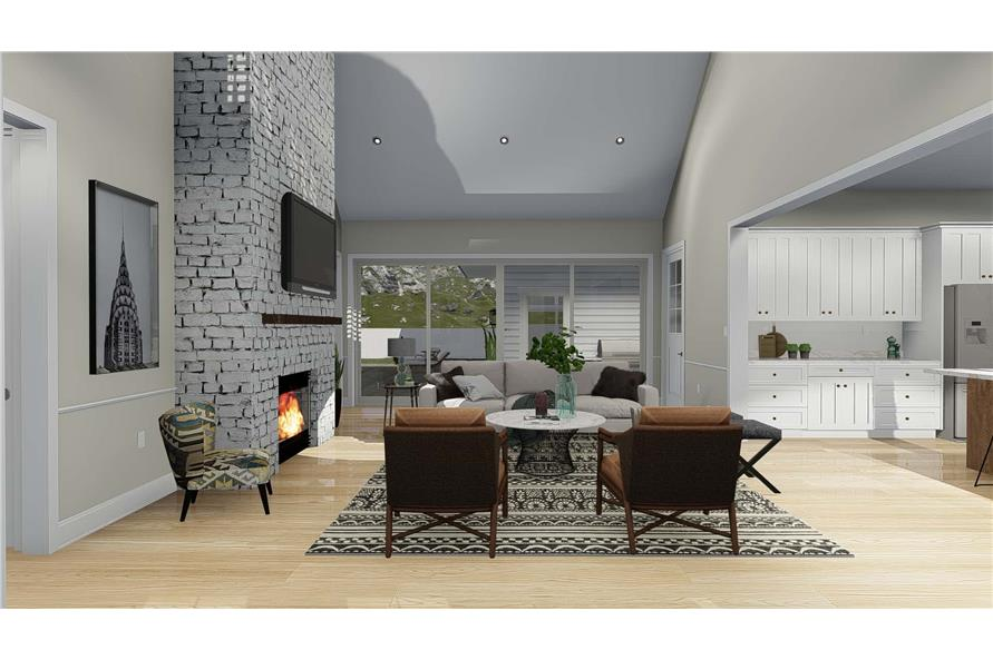Great Room of this 5-Bedroom,4658 Sq Ft Plan -4658