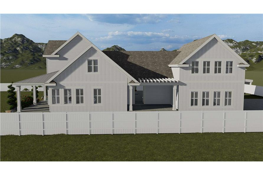 Side View of this 5-Bedroom,4658 Sq Ft Plan -4658