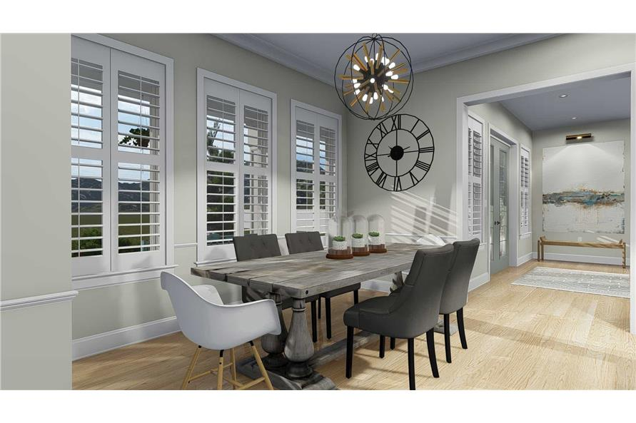 Dining Room of this 5-Bedroom,4658 Sq Ft Plan -4658