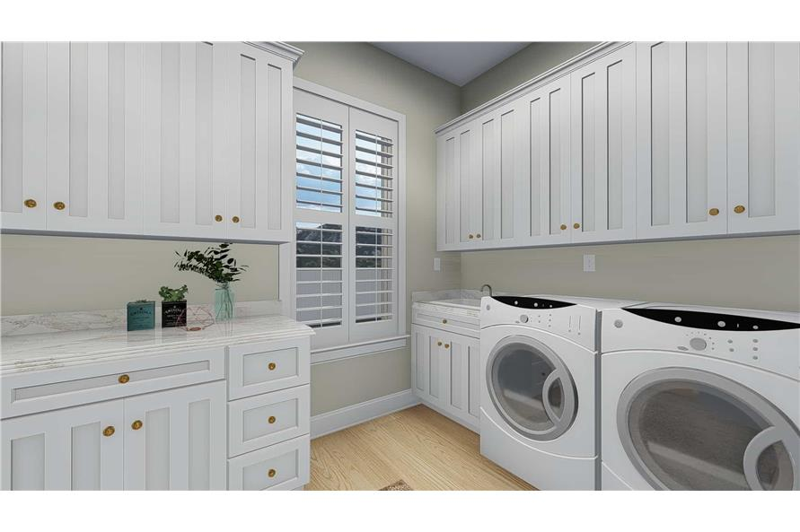 Laundry Room of this 5-Bedroom,4658 Sq Ft Plan -4658