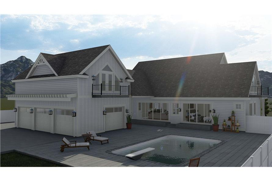 Rear View of this 5-Bedroom,4658 Sq Ft Plan -4658