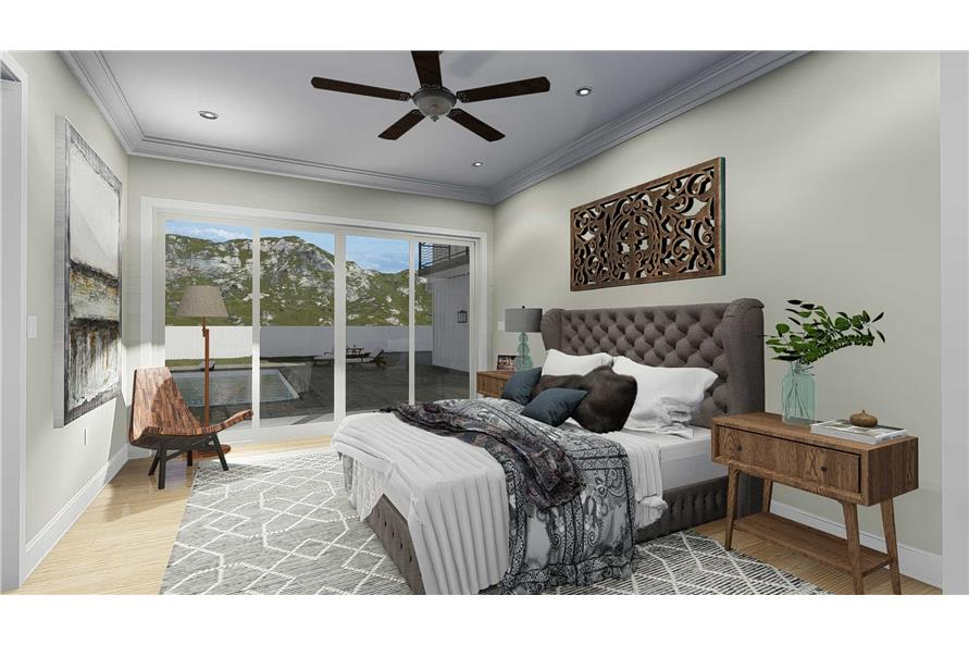 Master Bedroom of this 5-Bedroom,4658 Sq Ft Plan -4658