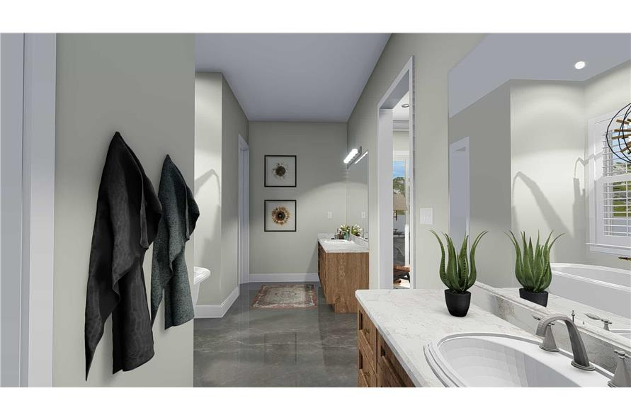 Master Bathroom of this 5-Bedroom,4658 Sq Ft Plan -4658