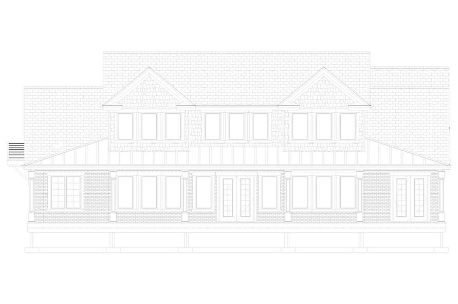 Home Plan Front Elevation of this 5-Bedroom,4658 Sq Ft Plan -187-1153