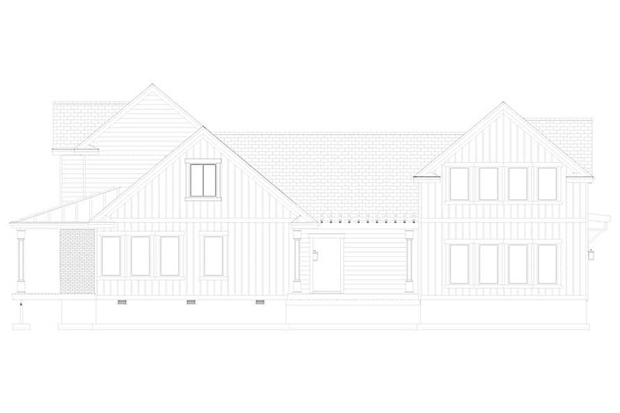 Home Plan Right Elevation of this 5-Bedroom,4658 Sq Ft Plan -187-1153