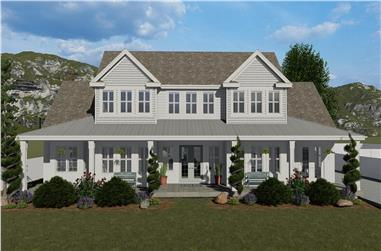 5-Bedroom, 4658 Sq Ft Farmhouse Home - Plan #187-1153 - Main Exterior