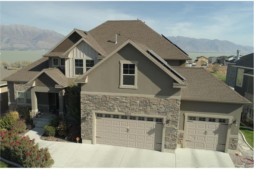 Aerial View of this 3-Bedroom,2920 Sq Ft Plan -187-1154