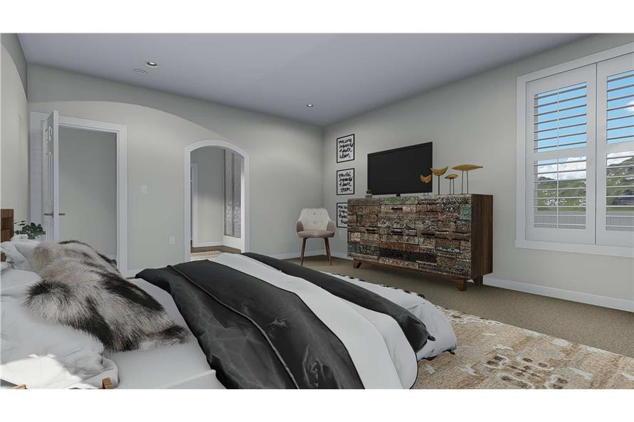 Master Bedroom of this 3-Bedroom,2920 Sq Ft Plan -2920