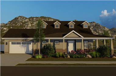 3-Bedroom, 2705 Sq Ft Craftsman House - Plan #187-1155 - Front Exterior