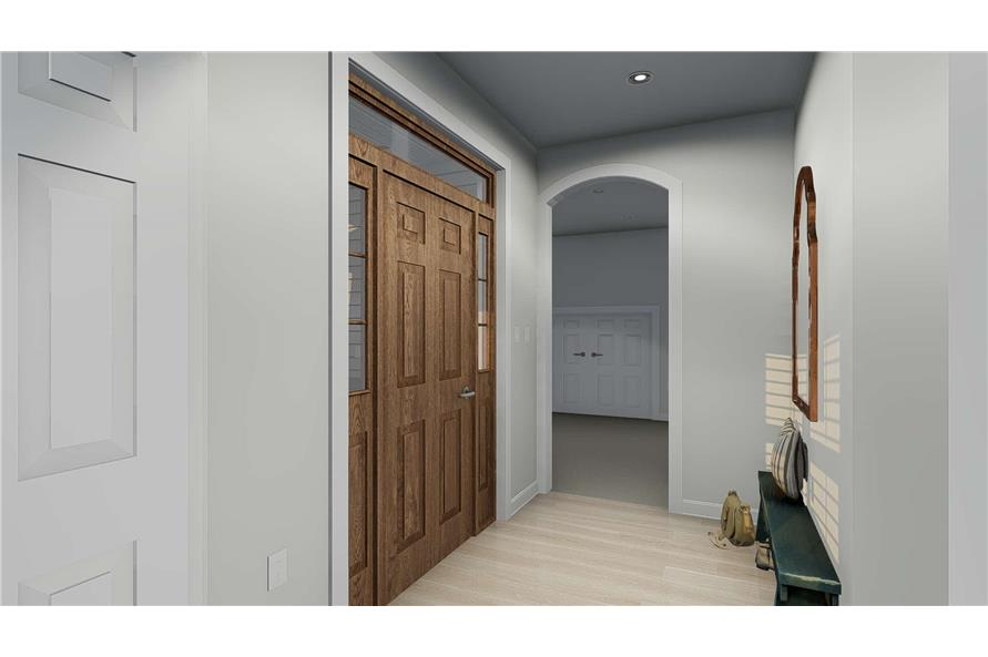 187-1157: Home Plan Rendering-Entry Hall: Foyer