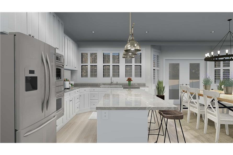 187-1157: Home Plan Rendering-Kitchen