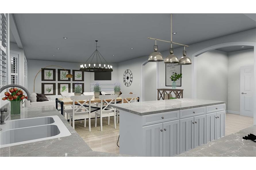 Kitchen of this 4-Bedroom,2898 Sq Ft Plan -2898