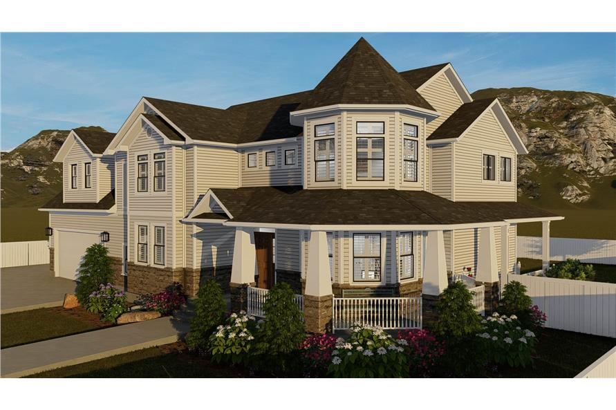 Side View of this 4-Bedroom,2898 Sq Ft Plan -2898