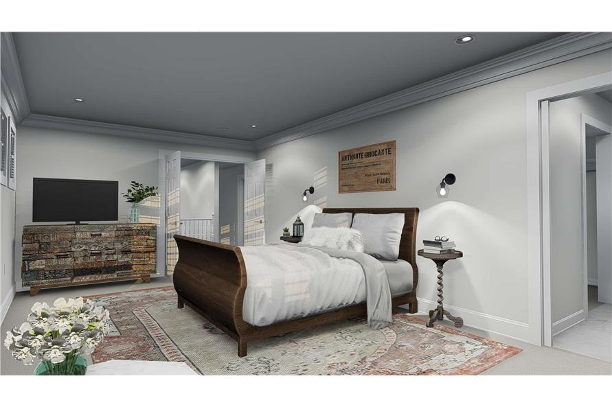 187-1157: Home Plan Rendering-Master Bedroom