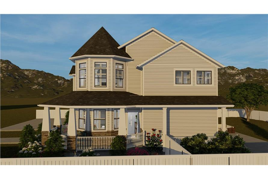 Home Plan Rendering of this 4-Bedroom,2898 Sq Ft Plan -2898