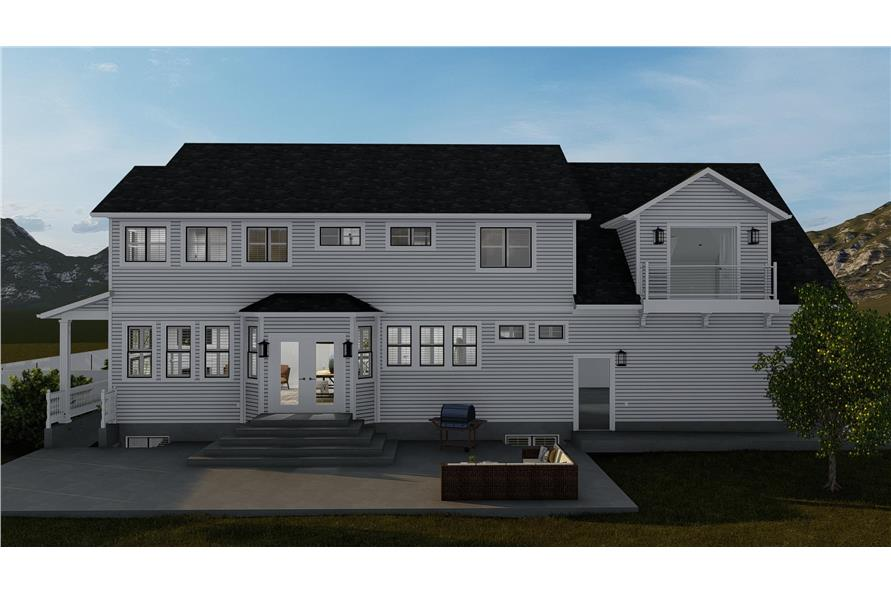 Rear View of this 4-Bedroom,2898 Sq Ft Plan -2898