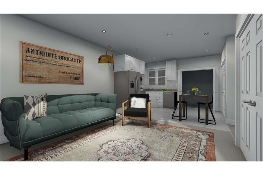 187-1157: Home Plan Rendering-Family Room