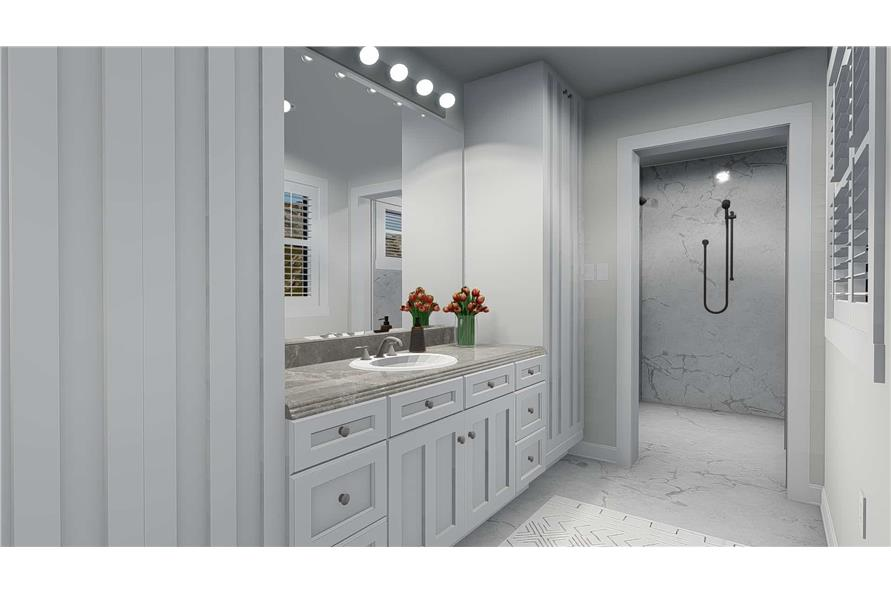 187-1157: Home Plan Rendering-Master Bathroom