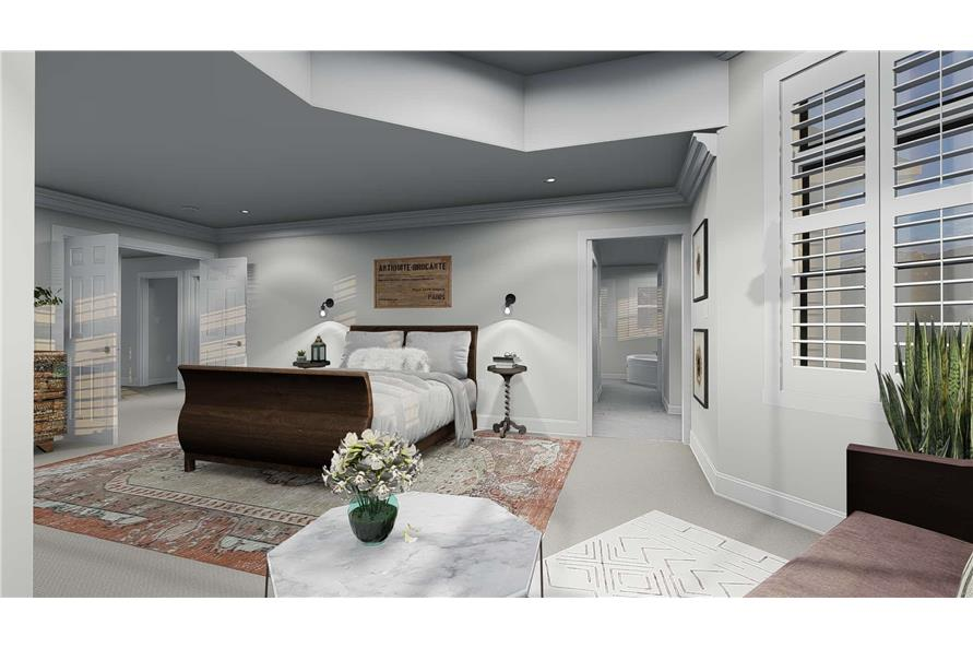 Master Bedroom of this 4-Bedroom,2898 Sq Ft Plan -2898