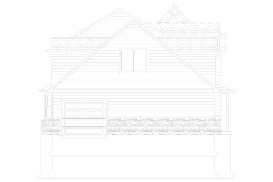 Home Plan Left Elevation of this 4-Bedroom,3571 Sq Ft Plan -187-1157