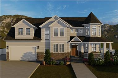 4-Bedroom, 2898 Sq Ft Traditional Home - Plan #187-1157 - Main Exterior