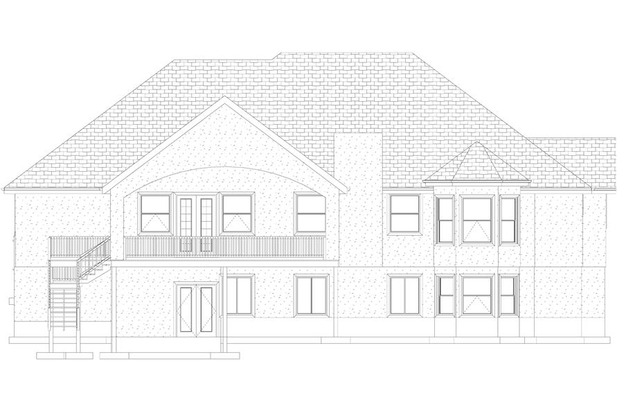 Home Plan Rear Elevation of this 1-Bedroom,2428 Sq Ft Plan -187-1159