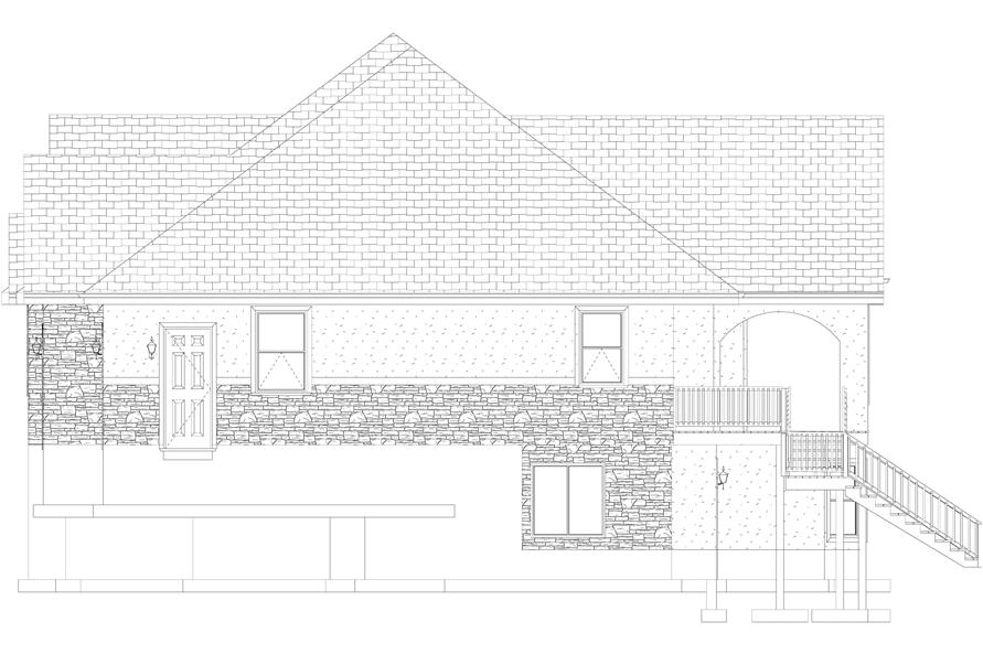 Home Plan Right Elevation of this 1-Bedroom,2428 Sq Ft Plan -187-1159