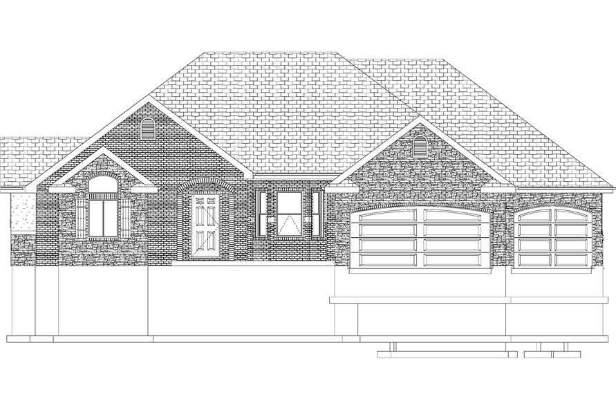Home Plan Front Elevation of this 1-Bedroom,2428 Sq Ft Plan -187-1159