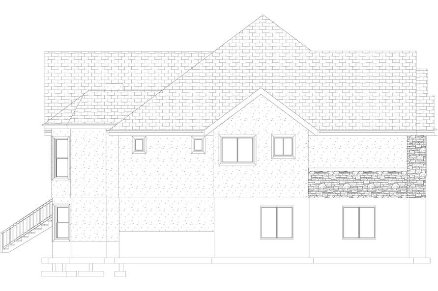 Home Plan Left Elevation of this 1-Bedroom,2428 Sq Ft Plan -187-1159